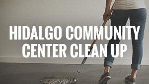 Hidalgo Community Center Clean Up