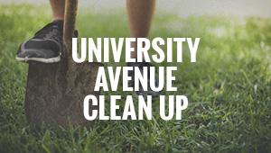 University Avenue Clean Up